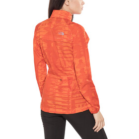 The North Face W's Rapida Woven Windproof Jacket Fire Brick Red Rf Print